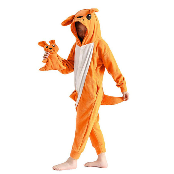 Kids Animal Onesie Kangaroo Pajamas for Boys and Girls