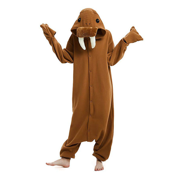 Christmas Walrus Animal Onesie Pajamas Cosplay Costume Lounge Wear