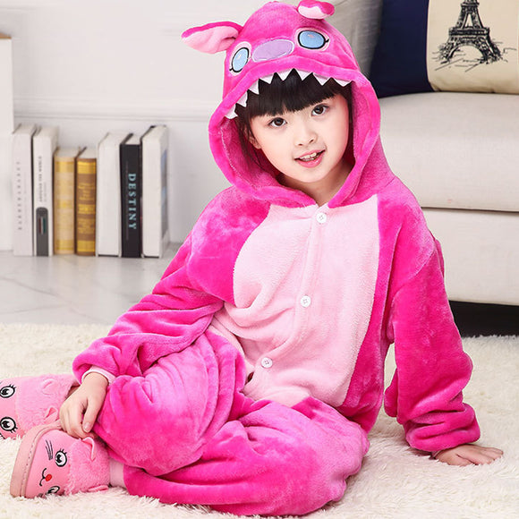 Child Romper Pink Color Costume for Kids Onesie Pajamas for Girls Boys