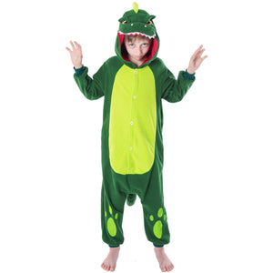 Spooktacular Creations Unisex Child Pajama Plush Onesie One Piece Dinosaur Animal Costume
