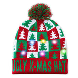2019 Funny Party Hat Christmas Tree Beanie Cap Christmas Sweater Ugly Holiday Hats Xmas Gift