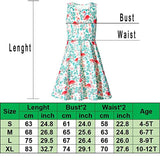 Girls Butterfly Printed Sleeveless Sundress