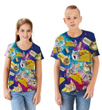 Unisex Kids T-Shirt Taco Cat Kitty Trendy Novelty 3D Graphic Printed Tee