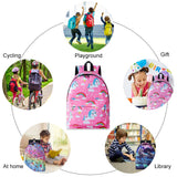 Raisevern School Bags for Girls Pink Rainbow Unicorn Printed Backpack