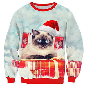 Angry Cat Funny Christmas Sweater