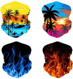4Pcs multifunction seamless bandana
