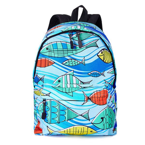 Raisevern Juniors Teenage Cartoon Backpack for Girls