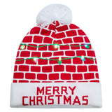 Raisevern for Men Women Merry Christmas Printed Red Sweater Knit Hat Carnival Beanie Hats