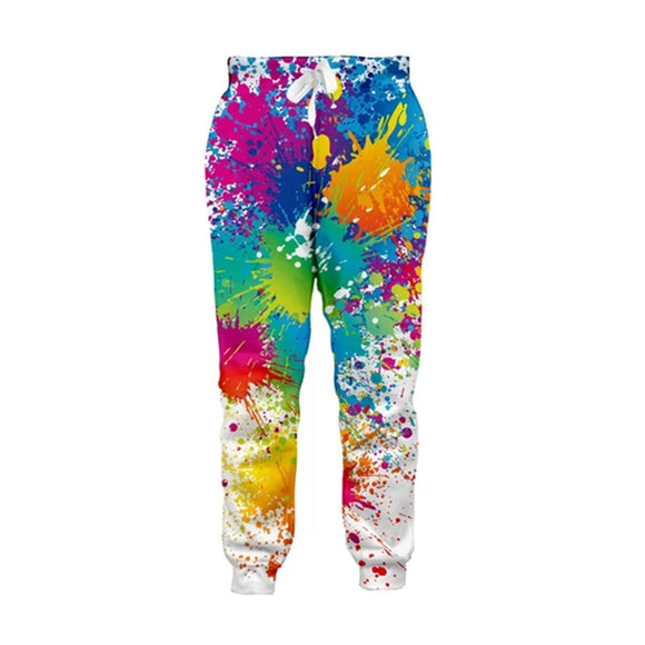 Mens Jogger Pants 3D Printing  Paint Printed Sweatpants