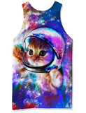 Mens Tank Tops 3D Printing Cute Cat Printed Vest