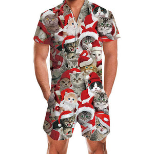 Men's Ugly Christmas Rompers