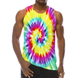 Mens Tank Tops 3D Printing Painting Colorful Pattern Vest