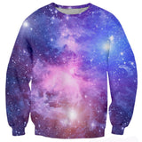 Mens Pullover Sweatshirt 3D Printing Galaxy Space Pattern
