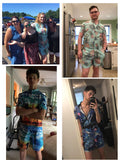 Mens Romper 3D Printing Pineapple Printed Pattern Jumpsuit