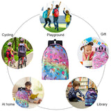 Raisevern Cute Backpack for Girls 3D Rainbow Unicorm Printed School Bags