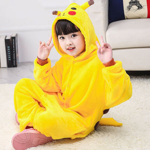 Child Romper Cute Pikachu Costume for Kids Onesie Pajamas for Girls Boys