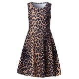 Little Girls Leopard  Midi Dress
