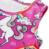 Little Girls Unicorn Rainbow Sleeveless Dress