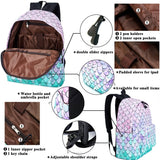 School Bookbags for Girls Cute Fish Scales Backpack College Bags Women Travel Bags