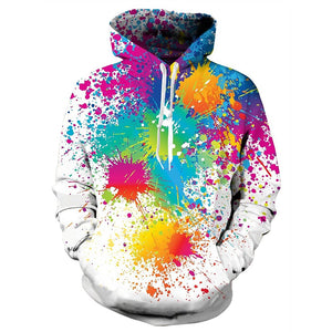 Mens Hoodies 3D Printing Tint Printed Pattern Hooded