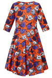 Kids Girls Cute Ghosts Sundress Halloween Party Costume