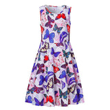 Kids Girls Printed Butterfly Sundress