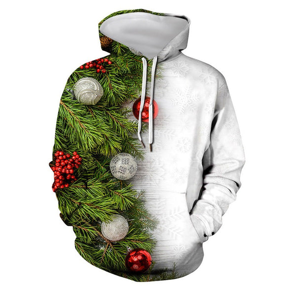 Mens Hoodies 3D Graphic Printed Merry Christmas Snowball Pullover Hoodie