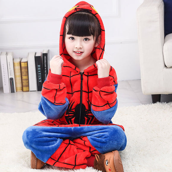 Child Romper Spiderman Costume for Kids Onesie Pajamas for Girls Boys