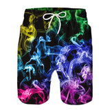 Colorful Flame Beach Board Shorts