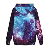 Mens Womens Hoodies Galaxy Pullovers with Pet Cuddle Pouch