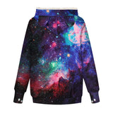 Mens Womens Hoodies Galaxy Pullover with Cat Dog Cuddle Pouch Bag