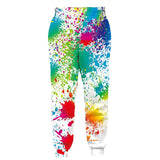 Mens Jogger Pants 3D Printing Tie Die Colorful Trousers