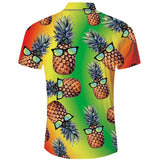 Mens 3D Printing Shirts Pineapple Pattern