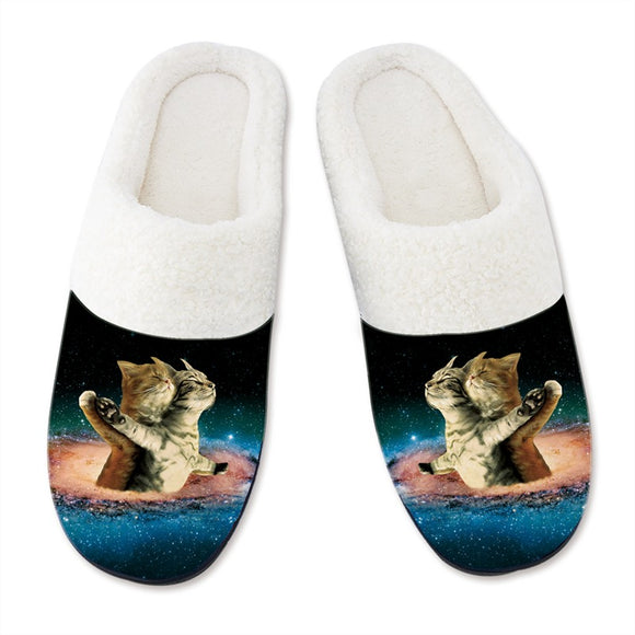 Men's Slippers 3D Printing Couple Cat Pattern Slipper for Mens