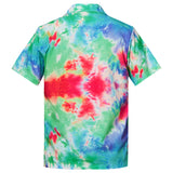 Men's Hawaiian Shirt Colorful Tie Die Printing
