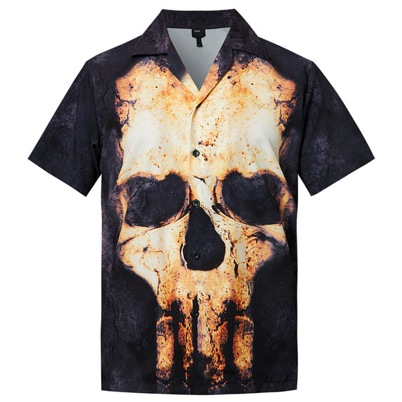 Men's Hawaiian Shirt Skull Printing