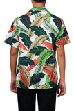 Men's Hawaiian Shirt Summer Leaf Printing