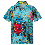 Men's Hawaiian Shirt Summer Flowers Leaves Printing