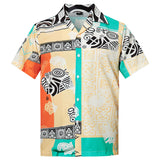 Men's Hawaiian Shirt Geometric Printing