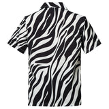 Men's Hawaiian Black White Leopard Printing