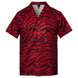 Men's Hawaiian Black Red Leopard Printing