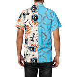 Men's Hawaiian Shirts Skull Printing