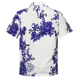 Men's Hawaiian Shirts Floral Birds Pattern Printing