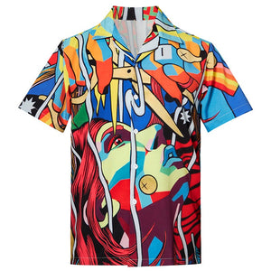 Men's Hawaiian Shirts Art Printed