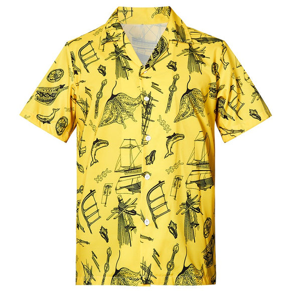 Men's Hawaiian Shirts Marine Life Printed