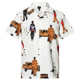 Men's Hawaiian Shirts Walking People Printed