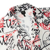 Men's Hawaiian Shirts Letter Graffiti Printed