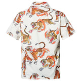 Men's Hawaiian Shirts Tiger Printed