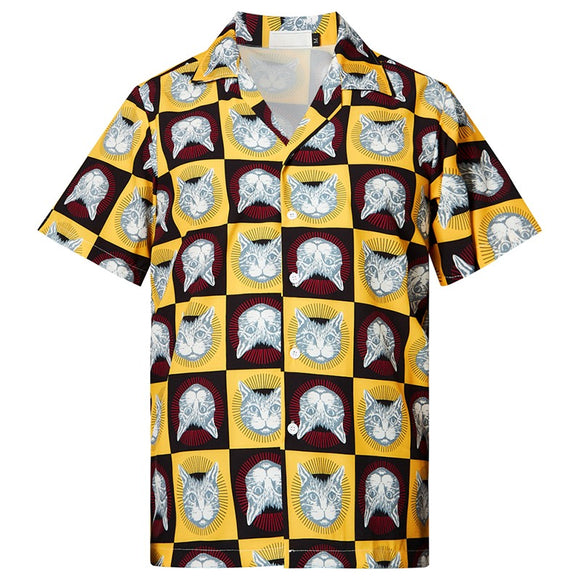 Men's Hawaiian Shirts Cat Collections Printed