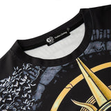 Mens T Shirt Armored Warrior Printing Pattern Tee